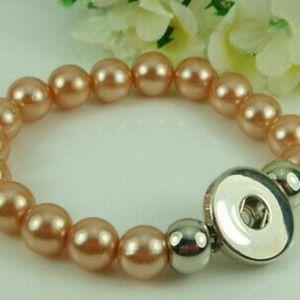 Light Brown Interchangeable Snap Button Bracelet